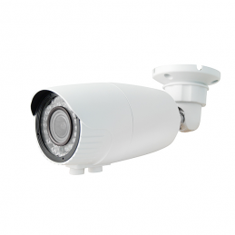 1080P Resolution, 4-in-1 (AHD, HD-TVI, HD-CVI, and Analog) Varifocal IR Bullet Camera (White)-0
